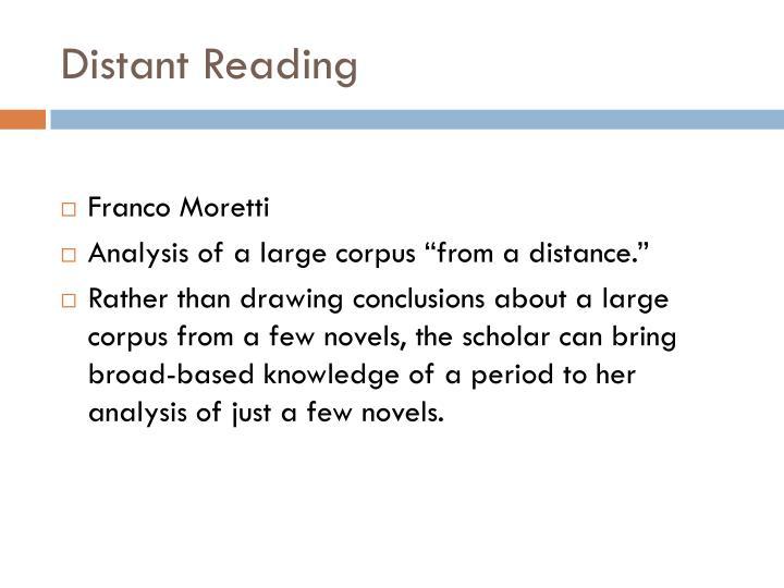 Distant Reading