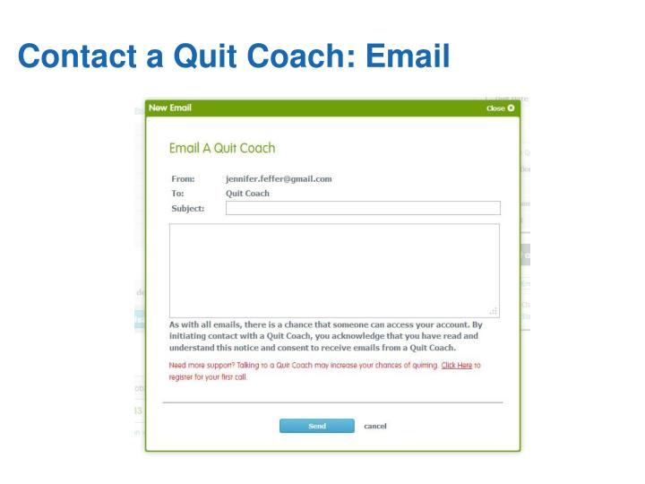 Contact a Quit Coach: Email
