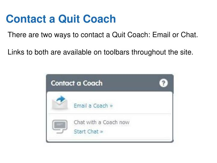 Contact a Quit Coach