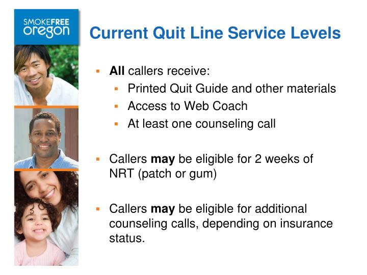 Current Quit Line Service Levels