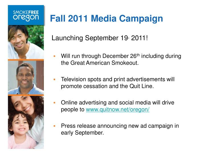 Fall 2011 Media Campaign