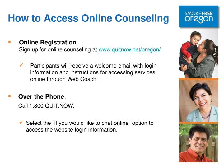 How to Access Online Counseling