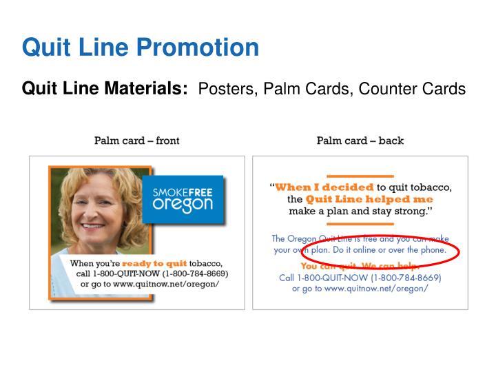Quit Line Promotion