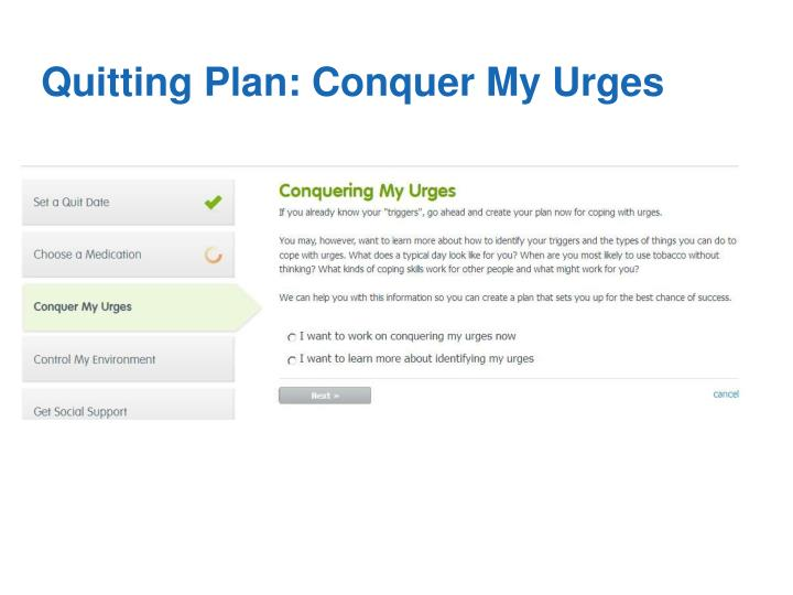 Quitting Plan: Conquer My Urges