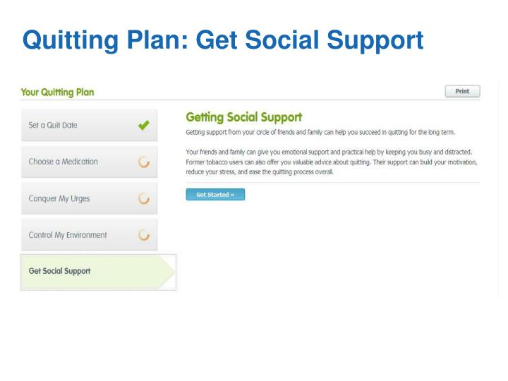 Quitting Plan: Get Social Support