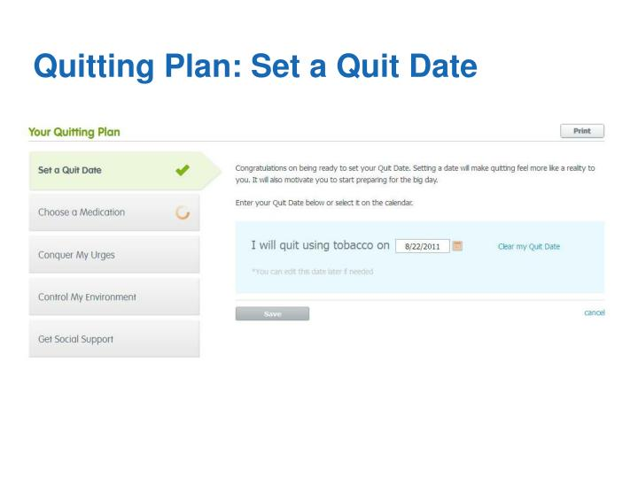 Quitting Plan: Set a Quit Date