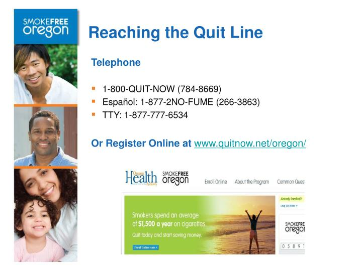 Reaching the Quit Line