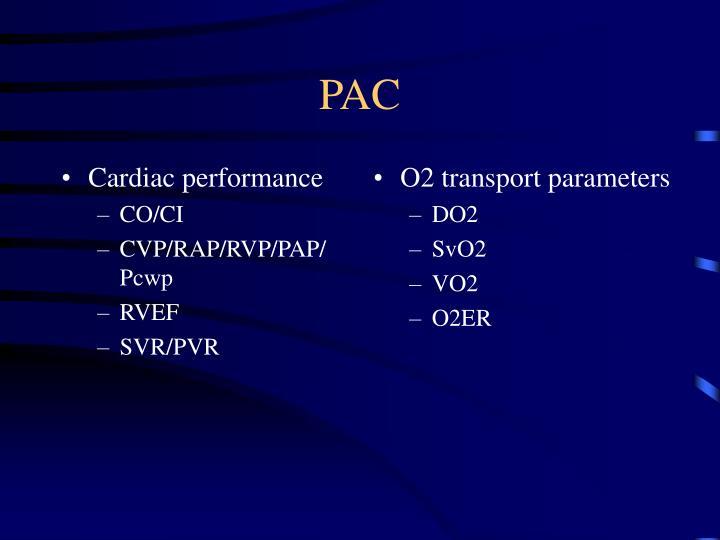 Cardiac performance
