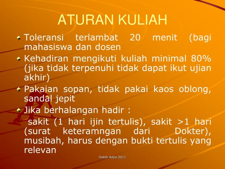 ATURAN KULIAH