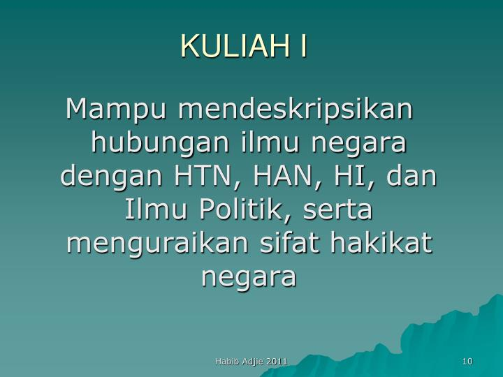 KULIAH I