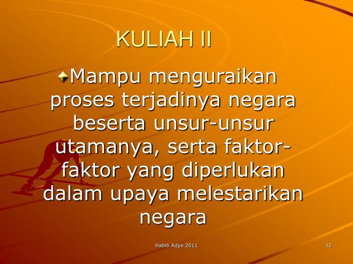 KULIAH II