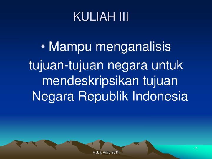 KULIAH III