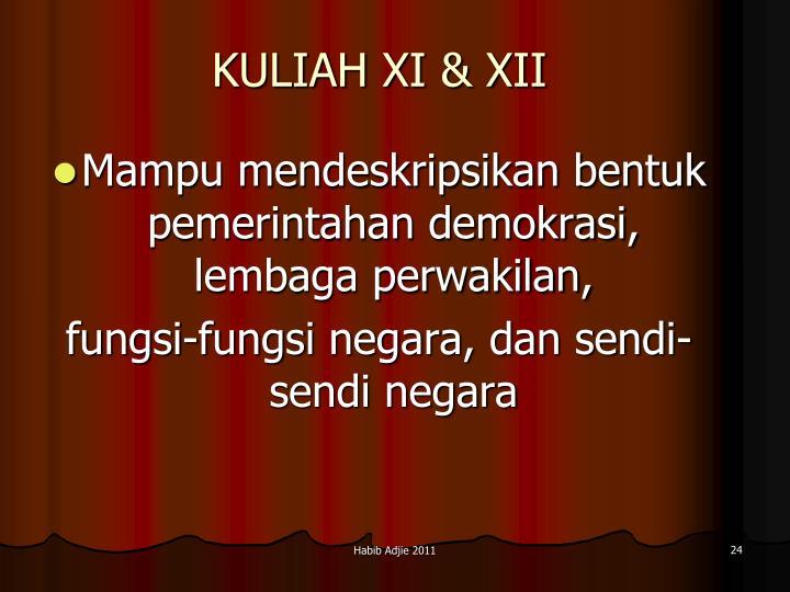 KULIAH XI & XII