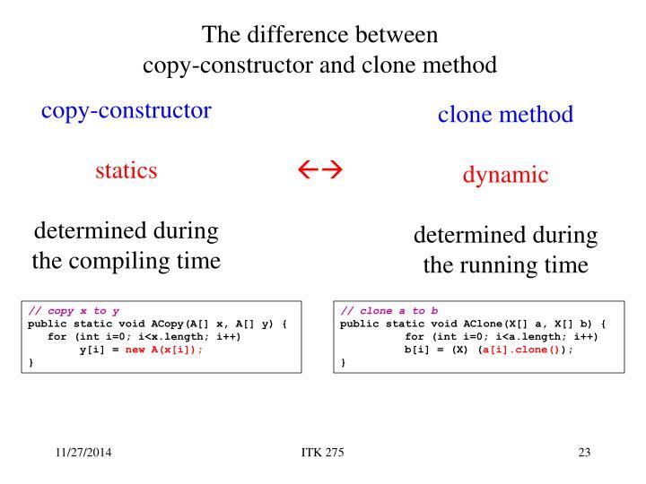 clone method