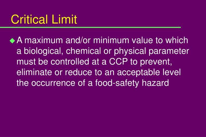 Critical Limit