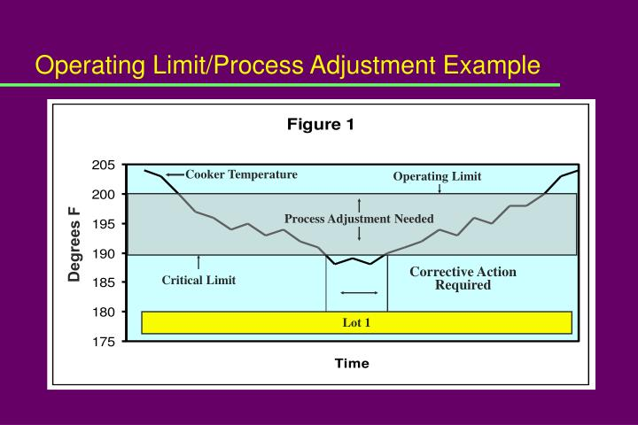 Operating Limit/Process Adjustment Example