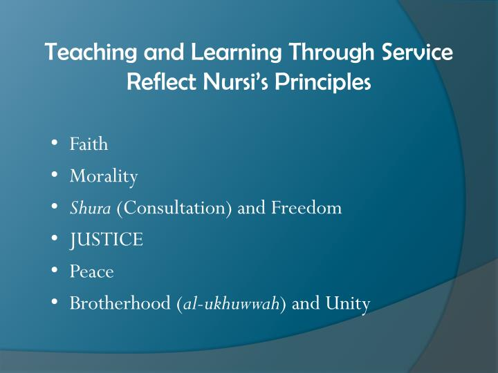 Teaching and Learning Through Service Reflect