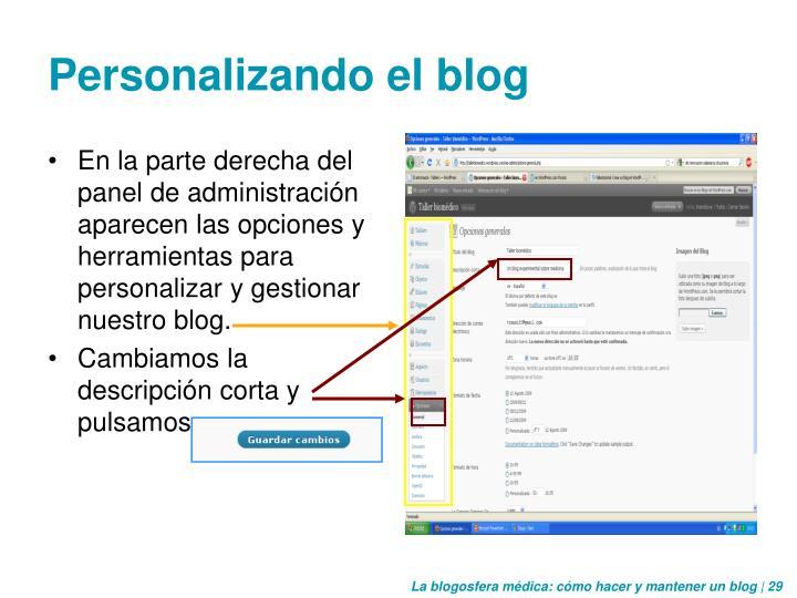 Personalizando el blog