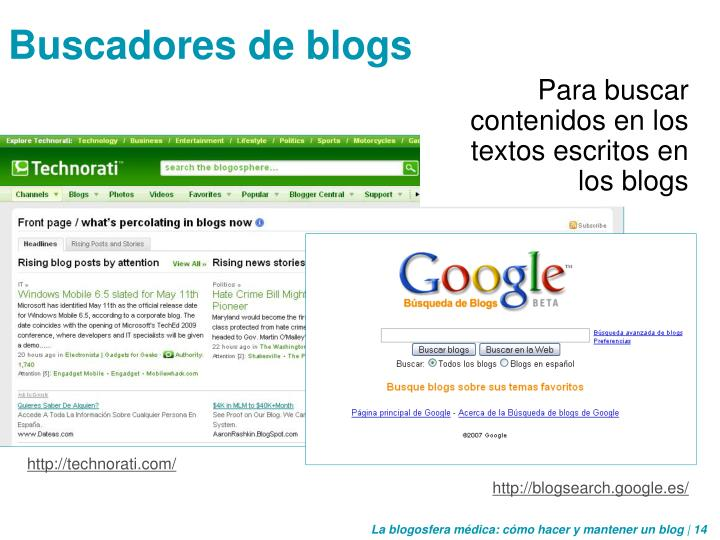 Buscadores de blogs
