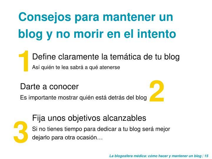 Define claramente la temática de tu blog