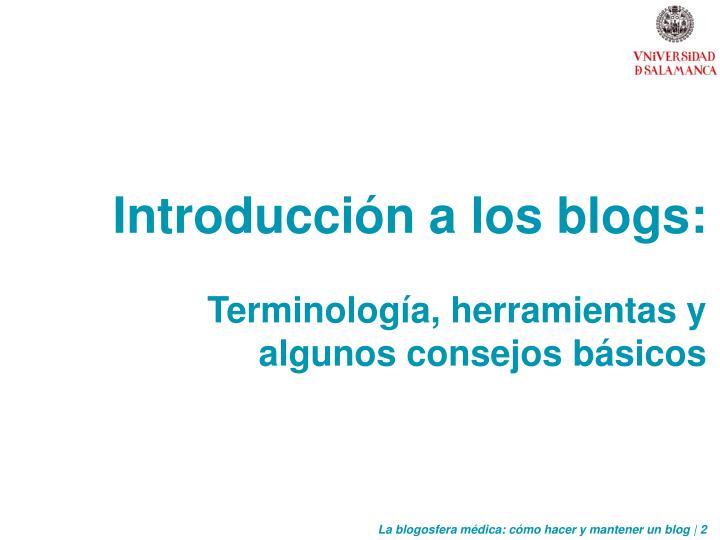 Introducción a los blogs: