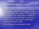 aristocentric claims