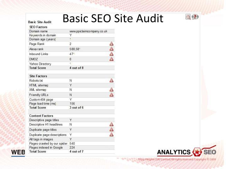 Basic SEO Site Audit
