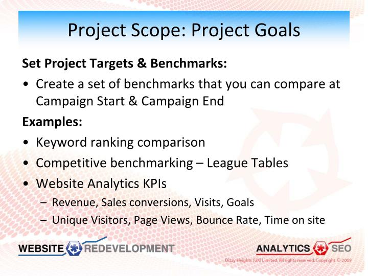 Project Scope: Project Goals