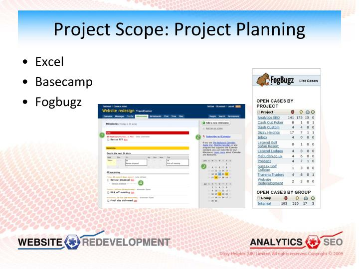 Project Scope: Project Planning