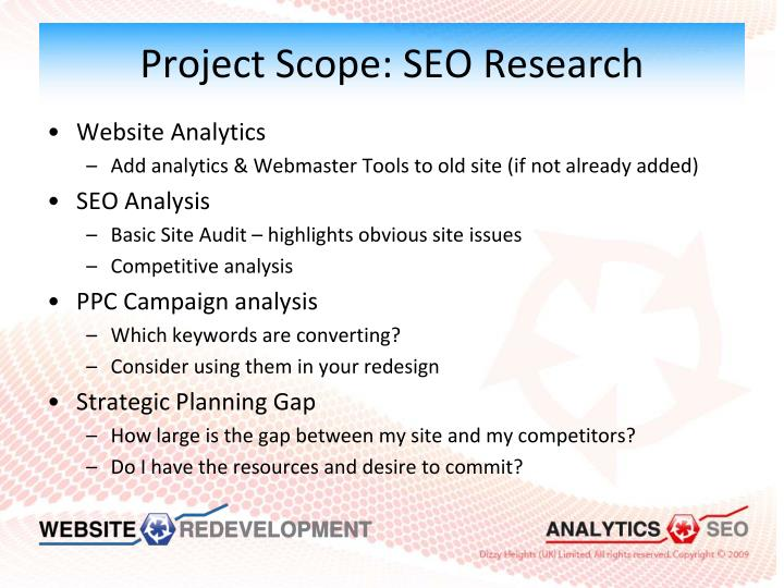 Project Scope: SEO Research