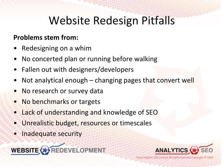 Website Redesign Pitfalls