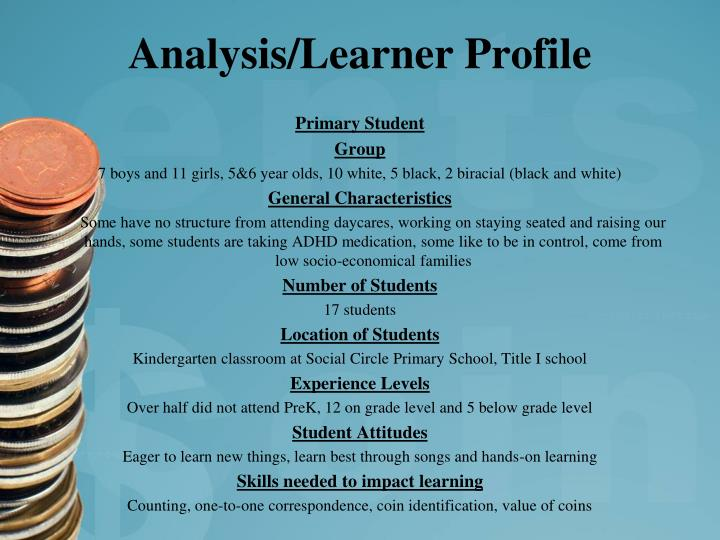 Analysis/Learner Profile