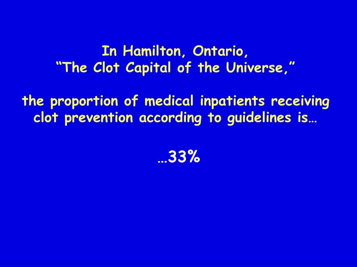 In Hamilton, Ontario,