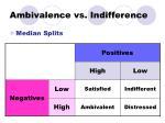 ambivalence vs indifference
