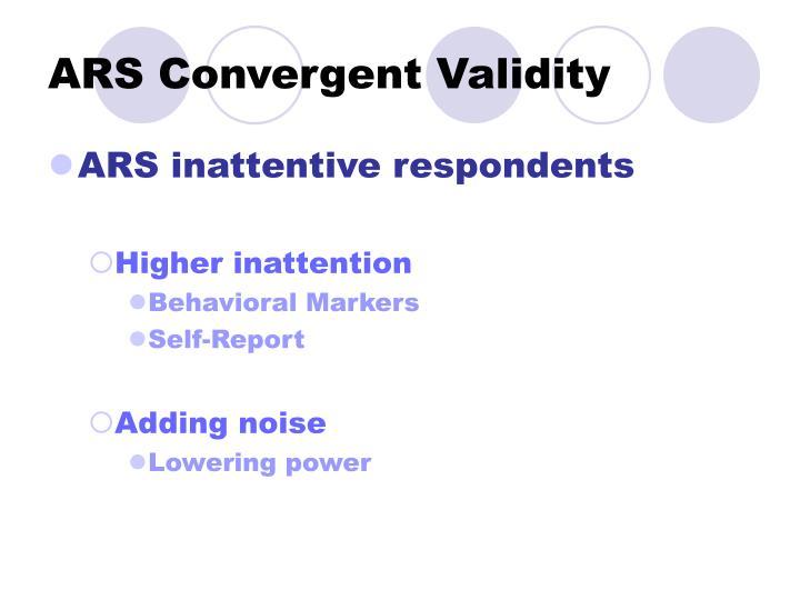 ARS Convergent Validity