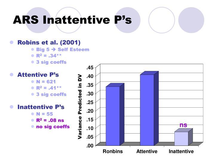 ARS Inattentive P's