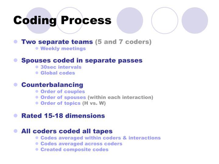 Coding Process