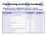 fun exciting activities feedback1