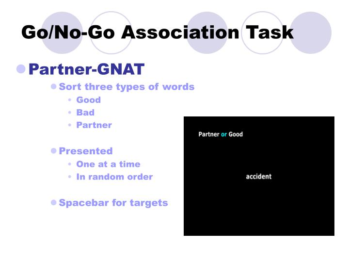 Go/No-Go Association Task