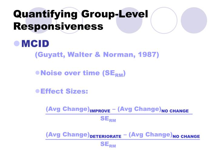 Quantifying Group-Level Responsiveness