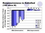 responsiveness in satisfied 1sd above m
