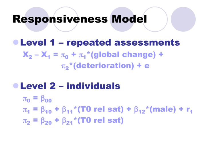 Responsiveness Model