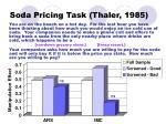 soda pricing task thaler 1985