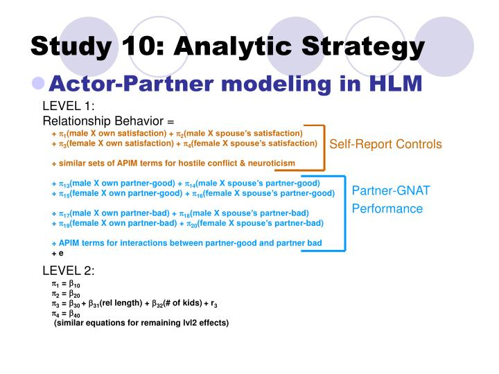 Study 10: Analytic Strategy