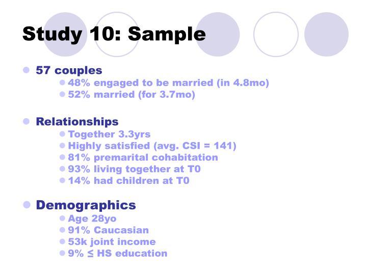 Study 10: Sample