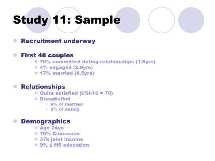Study 11: Sample