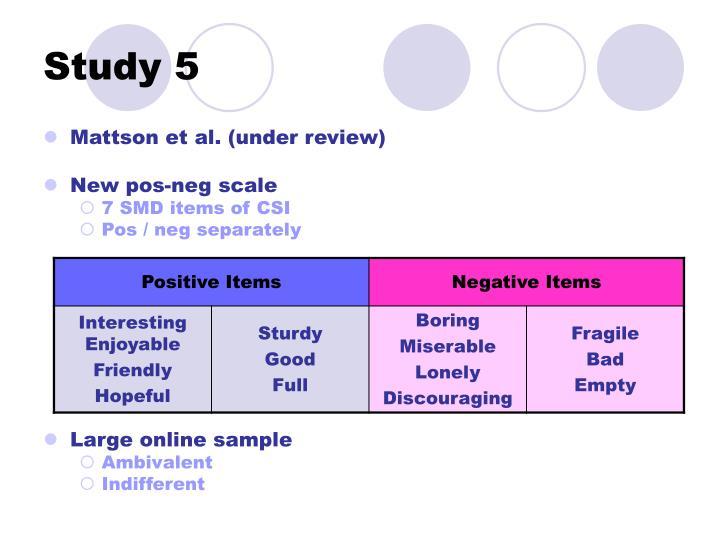 Study 5