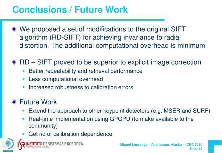 Conclusions / Future Work