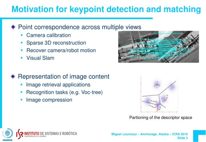 Motivation for keypoint detection and matching