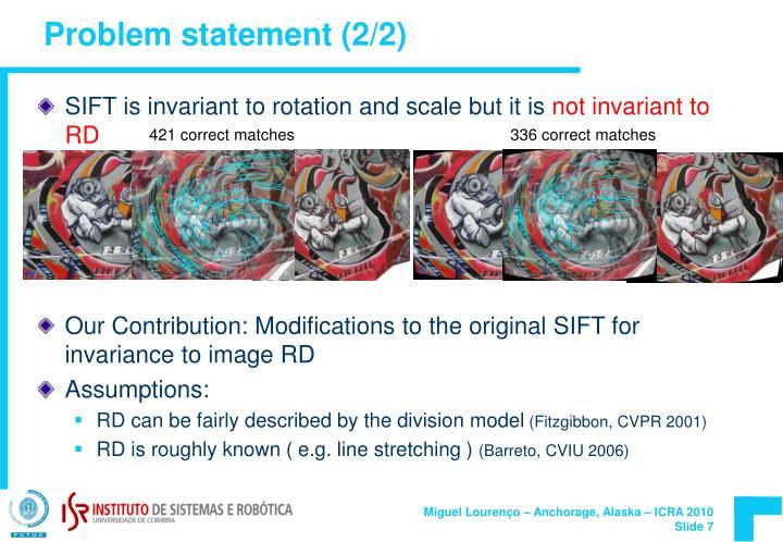 Problem statement (2/2)
